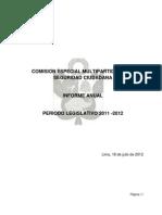 Informe Anual de Comision 2011 2012