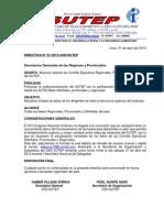 Directiva Nº 01-2013-SUTEP
