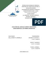 TRABAJO ESCRITO LENGUAJE Y ARGUMENTACIÓN JURÍDICA (3er SEMESTRE) 01