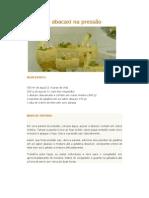 Gelado de abacaxi na pressão