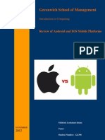 Review and comparison of Android and IOS Mobile Platforms