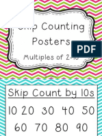 Chevron Skip Counting Posters Primary Font