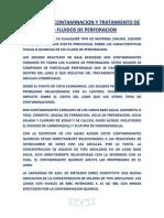 V.- Contaminacion y Tratamiento de Los Fluidos