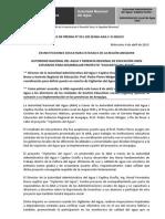 BOLETÍN DE PRENSA N° 031-2013