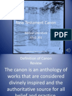 Biblical Literature Lecture 08 New Testament Canon