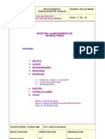 Procedimiento Recepcion y Almacenamiento de Materias Primas