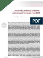 130222 - Budget européen d'austérité - une bataille stratégique pour 2014