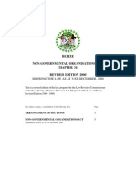 Belize NGO Act, Chp 315
