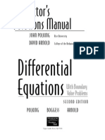 Solutions Manual to Accompany Ordinary Differential Equations