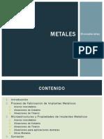 Uso de Metales en los Biomateriales