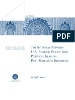 The Interplay between U.S. Foreign Policy and Political Islam in Post-Soeharto Indonesia