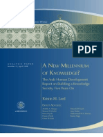 A New Millennium of Knowledge? The Arab Human Development Report on Building a Knowledge Society, Five Years On