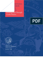 California History and Social Science Standards for K-12