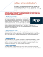 25 Simple Steps to Prevent Alzheimer