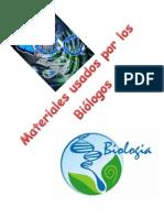 Instrumentos Usados Por Los Biologos