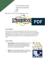 7th grade earth science