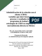8. Prog.lealt. PlanTesis.doct. Administracion de La Relacion Con El Cliente CRM