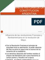 Historia de La Constitucion Argentina