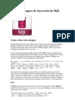 Evita los ataques de inyección de SQL