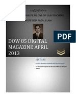 DMC CLASS OF 1985 DIGITAL MAGAZINE, APRIL 2013