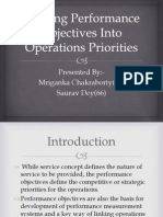 Turning Performance Objectives Into Operations Priorities