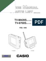 Casio TVC LCD 4,0'' TV-M420S, 8700S Service Manual