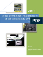 Police Technology an Analysis of in Car Cameras and Body Worn Cameras Lillian Draisin Spring 2011