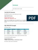 SQL Commands w3