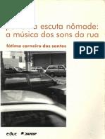 Por uma escuta Nômade a música dos sons da rua