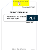 DENSO Common Rail Hino E13C Service Manual Pages