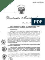 RM136-2009 Proyectode reglamento  RRSS
