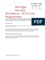 Corporate Edge Leadership and Simulations - 2013 Programme Guide