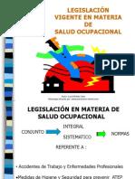 legislación vigente en salud ocupacional