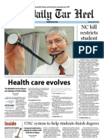 The Daily Tar Heel for April 4, 2013