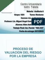 Proceso de Valuacion Del Riesgo Por La Empresa