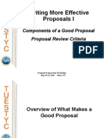 Writing Effective Proposals I Components of a Good Proposal