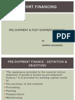 Trade Financing in import-export