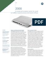 Motorola WS-2000 Data Sheet