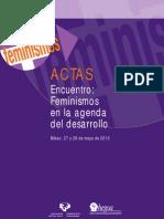 Actas Encuentro Feminismos (2010) (con textos de Magdalena León, Julieta Paredes)