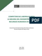 II-2. Competencias Laborales para la mejora del desempeño de los Recursos Humanos en Salud