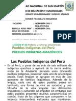 INGENIERÍA CIVIL - HISTORIA Y GEO AMAZ.LECCIÓN 3 PUEBLOS INDIGENAS DEL PERU PUEBLOS INDIGENAS DE LA AMAZONIA.
