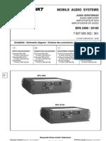 Car Audio Blaupunkt BPA-2480 24120 Sch