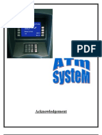 Project Report on ATM System | Automated Teller Machine