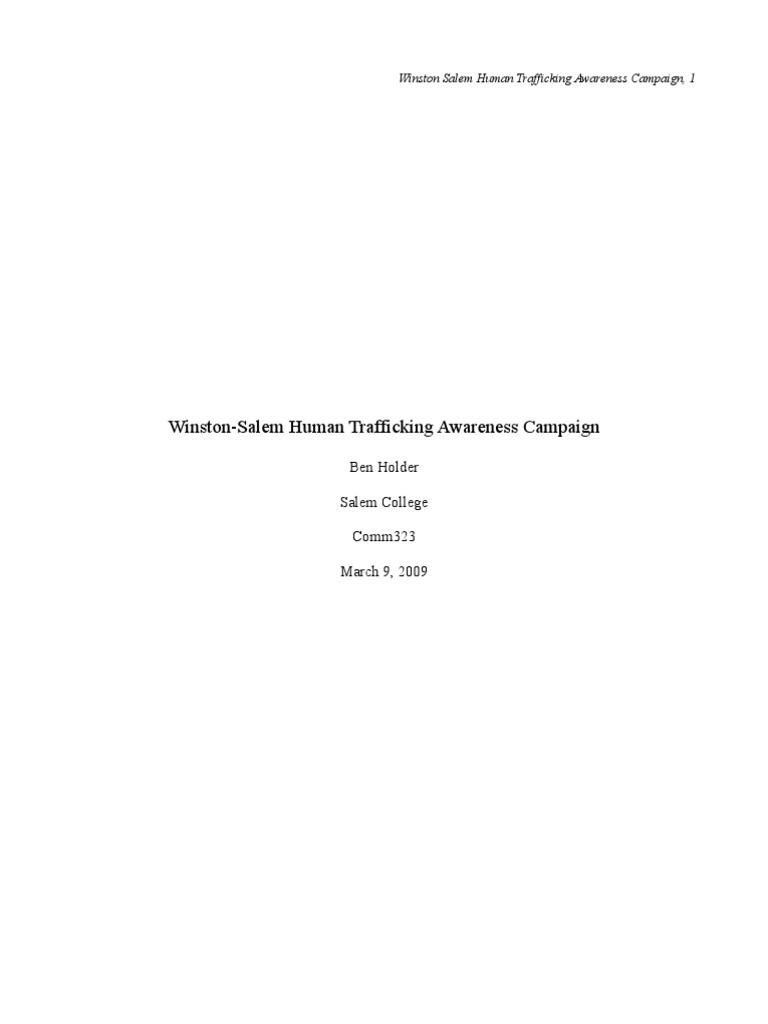 3human trafficking paper 1 1 human trafficking target audience