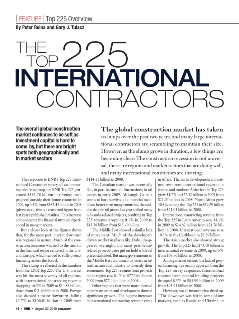 Econtech Theiss Gmbh top225 international contractors 2010