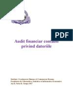 proiect auditul datoriilor.doc
