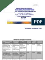 Pat  de Español ciclo escolar 2012-2013
