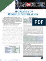 Minimum Ventilation