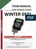 Bedienungsanleitung Winter DSP Control System