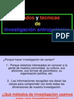 Técnicas de investigación antropológica